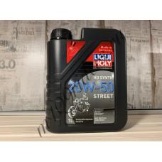 Синтетическое моторное масло для 4-тактных мотоциклов Motorbike HD Synth Street 20W-50 1л