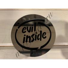 "Крышка генератора ""EVIL INSIDE"" нерж. на черном для M109R, VZR1800, M1800R"